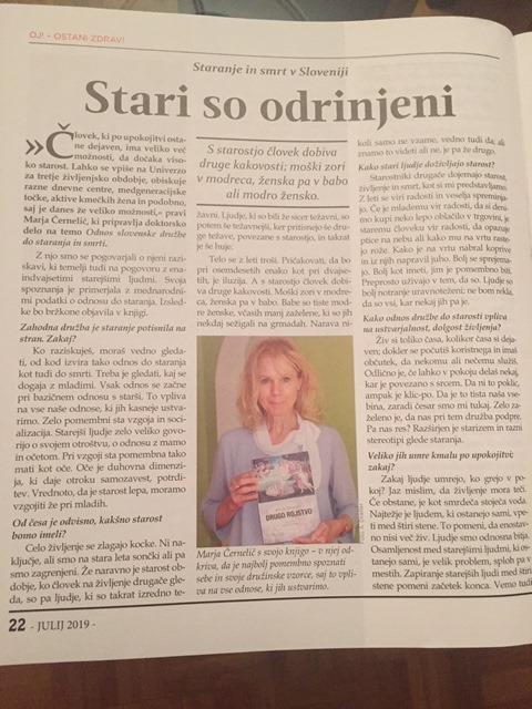 Marja Černelič, revija misterji,